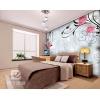 易卡简约大型壁画/客厅电视墙/卧室壁纸墙纸背景墙 浪漫玫瑰