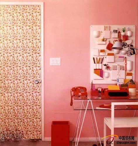 儿童手绘的小房子墙纸装饰