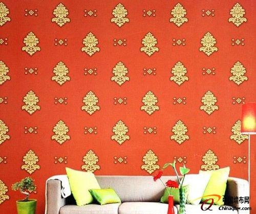 卧室墙纸颜色搭配:欧式田园风格墙壁纸图片