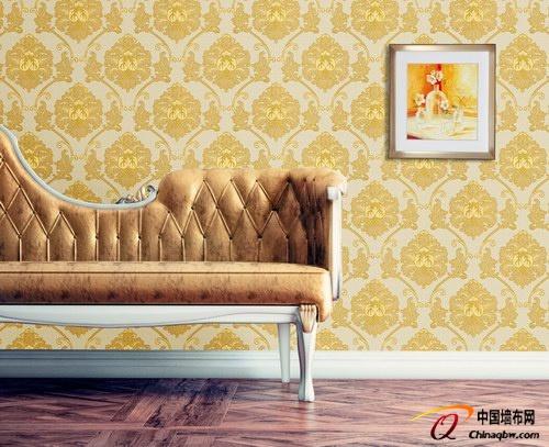 卡米尔欧式风格无缝墙布供应