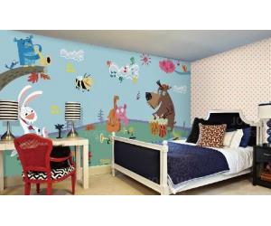 纯真童语系列无缝墙布装修效果图赏析 (5)