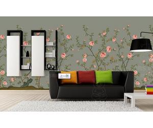 无缝墙布中式花卉产品效果图赏析 (5)