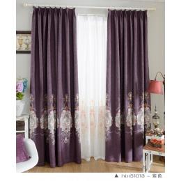 高档欧式田园棉麻绣花窗帘布料客厅卧室遮光定制窗帘