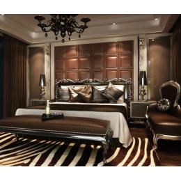 高档方形软包背景墙 床头软包 简约深色咖色客厅沙发背景墙 皮雕