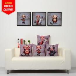 西游记创意儿童房装饰画个性餐厅玄关壁画卡通客厅挂画卧室床头画