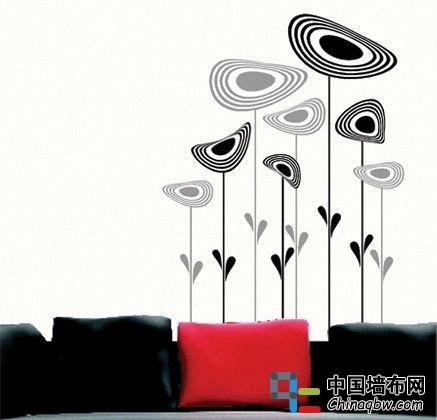 甜美壁纸设计案例 色彩绚丽的卧室