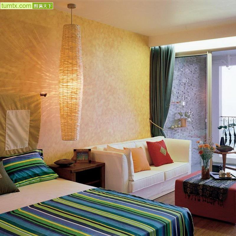 各式单身公寓室内设计欣赏--中国墙布网
